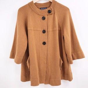 Jones New York Womens XL Brown Sweater 3/4 Slee